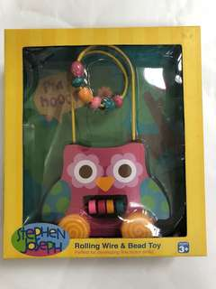 Rolling wire bead toys - owl