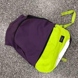 Crumpled bagpack