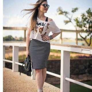 Terno / tops and skirt