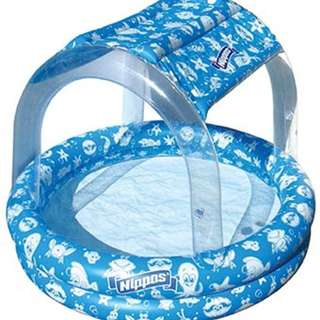 Wahu Nippas Pool With Canopy- Blue