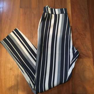 Women's stripped high waisted pants/trousers