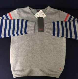 Esprit藍紅線條針織衫(童裝)