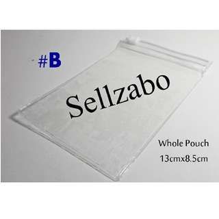 #B PVC Zip Lock Pouch Bags Clear Colour See Through Type Sellzabo 13x8.5 8.5cm 13cm Storage Accessories Stationery