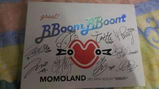 MOMOLAND 親筆簽名專輯 《GREAT!》