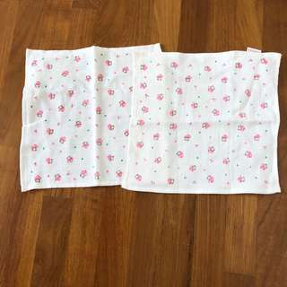 Baby handkerchief (bibs) soft cotton buddle set of 2