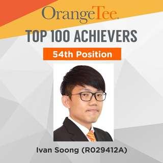 OrangeTee Top Achiever 2017: 54th Position