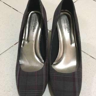 Comfort Plus Plaid Heels