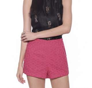 BNWT Love Bonito Catalina Embroidered Shorts