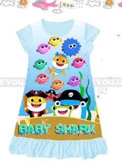 Girl Dress baby shark Pyjamas