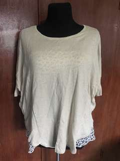 Knitted Top with Animal Print Inner