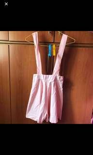 (FREE NM) BN Pink Dungaree Short