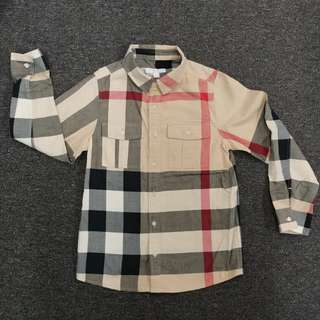 Brand New Burberry Check Cotton Shirt