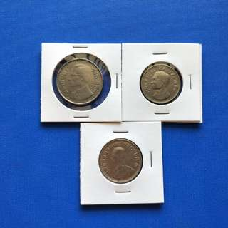 Thailand old coin 3pcs