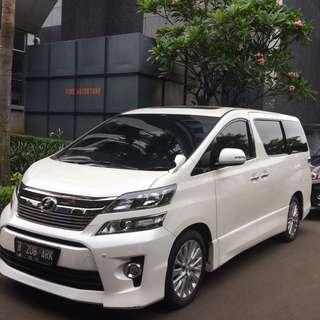 Promo sewa mobil pengantin murah dan elegan di Jakarta. Toyota Vellfire hanya 1,8 Juta