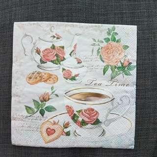 Decoupage Napkin ( Tea Time)