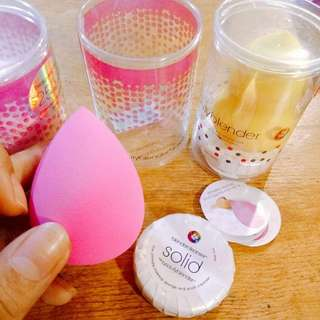 Beauty blender with soap