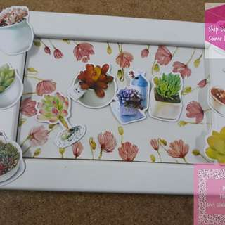 《READY STOCK》28pcs Succulent Plants Loose Sticker Pack