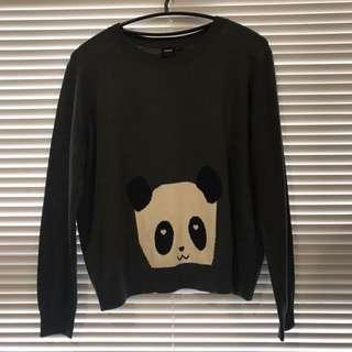 🚚 asos熊貓可愛針織衫