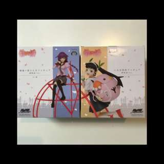 Monogatari Series Hitagi Senjogahara and Mayoi Hachikuji Figure Set
