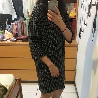 秋冬款格紋連身裙#我的女裝可超取#換季五折