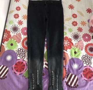 (Free NM) BN Ombre Black Jeans