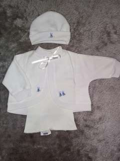Jacket set with hat and sando
