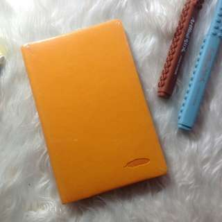VICTORIA'S JOURNAL LEATHER COVER CANARY YELLOW SALE