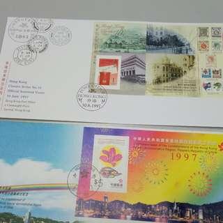 香港郵票1997回歸及經典首日封