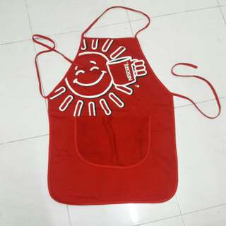 Nescafe full red apron