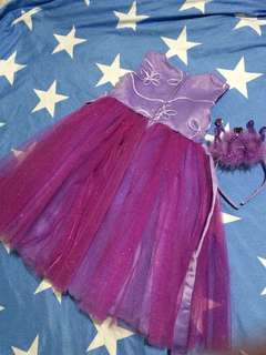 Rare Editions Purple Tulle Dress