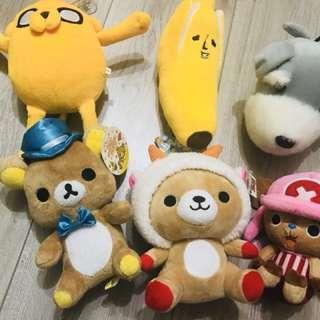 全新免運:拉拉熊.喬巴.香蕉.老皮.大頭狗娃娃
