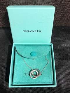 Reduced! Authentic Tiffany & Co 1837 interlocking circle pendant