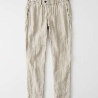 BN Abercrombie & Fitch Slim Linen Chino pants