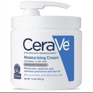 Instock Cerave Moisturizing Cream with Pump For Normal to Dry Skin 16oz 453g