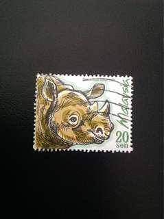 Malaysia 2000 Protected Mammals 1V Used (0356)