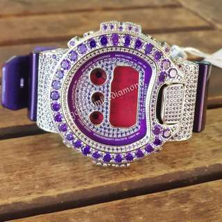 Customise  full plated violet diamond   (Watch will be 100% nicer when u view it)《Feel free  to view the watch personally @amk》Diamond sure shine TTM!!