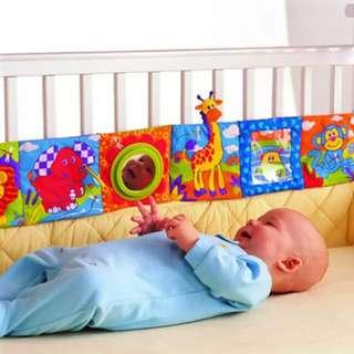 Multifunction bed bumper cum colourful cloth book