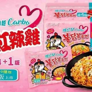 🚚 韓國三養_奶油培根辣炒雞肉義大利麵(4+1版)