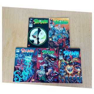 spawn comic lot 6,12,13,14,15,five books