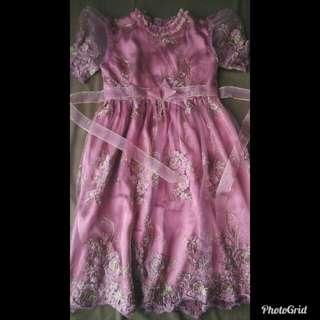 Gamis/gaun bordir anak