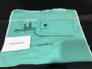 Brand new authentic Tiffany & Co luggage tag