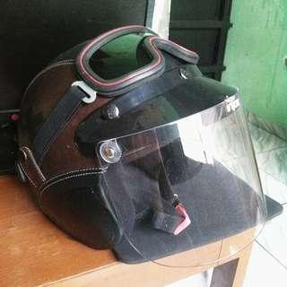 Helm Lek Ono kaca/visor baru, batok seken jarang pakai murah