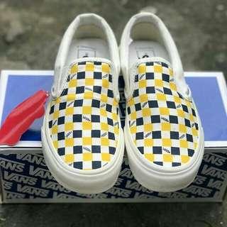 vans slip on OG checkerboard yellow