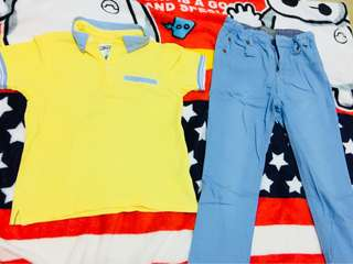 Gingersnaps polo & pants (set)
