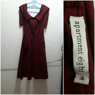 RUSH SALE UNTIL SAT ONLY @800 apartment 8 midi dress in maroon