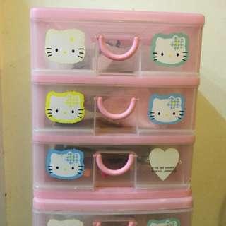 日版1998'Hello Kitty 文具櫃資料櫃 抽屜櫃