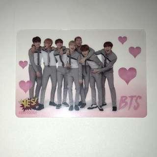 BTS Yes!專輯卡part1 半透卡