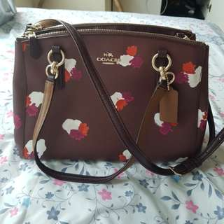 100% ORI Coach flower satchel bag