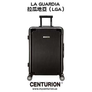 LGA拉瓜地亞黑☆CENTURION☆行李箱航空城 網路最低價 亮面黑 拉鍊款 鋁框 行李箱 旅行箱 22.26.29吋