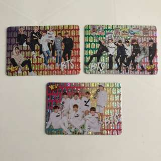 BTS Yes! Card 專輯卡 part1 閃卡